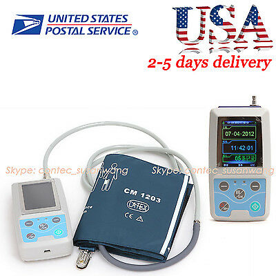 NIBP Monitor 24HOUR Ambulatory Blood Pressure Monitor Holter+SOFTWARE【USA】
