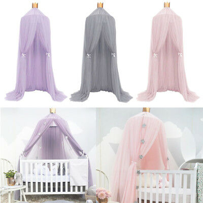 Kid Baby Bed Canopy Cotton Bedcover Mosquito Net Curtain Bedding Round Dome Tent