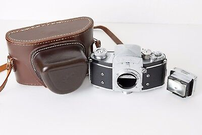 Exakta Varex VX Ihagee Dresden SLR with case and extra prism viewfinder