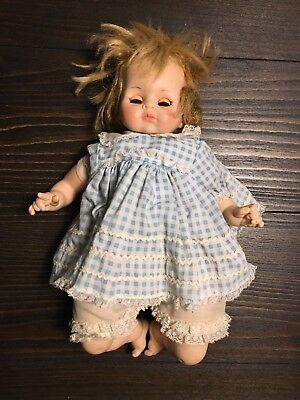 "Vintage Madame Alexander Pussycat doll 13"" 1965 Blonde Hair / Grey Eyes"