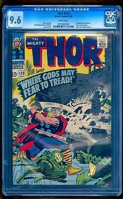 Thor #132 Cgc 9.6 Nm+ White Pages **thor Ragnarok No Reserve Auction**