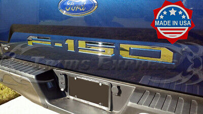 2018 Ford F-150 Tailgate Trim Letter Accent Rear Door Insert 5Pc Stainless Steel