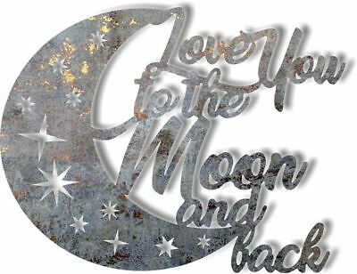 DXF CNC dxf for Plasma Router Vector Love To The Moon Man Cave Home  Decor