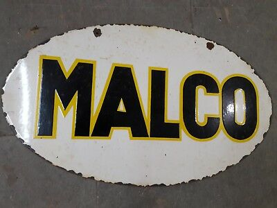 Malco porcelain sign 17 X 29.5 inches