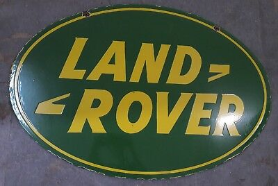"""Porcelain Land Rover-SERVICE Sign SIZE 36"""" X 24"""" INCHES Double Sided"""