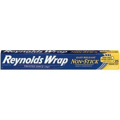Reynolds Release Non-Stick Aluminum Foil, 35 Square-Foot Roll New