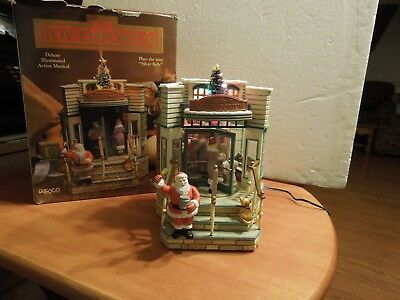 Enesco The Toy Emporium Deluxe Illuminated Action Musical plays Silver Bells