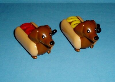 Racing Dachshund Hot Dogs Wind Up Set of 2