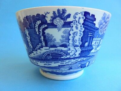 SPODE BLUE ITALIAN FOOTED BOWL 11 cm LIKE NEW ENGLAND BLUE AND WHITE
