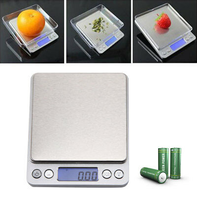 Stylish Silver LCD Pocket Scale for Weighing Gold Herbs Jewellery 0.01 - 500g