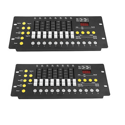 2x 192Ch DMX512 Controller Console Stage Lighting Programmer DJ equipment