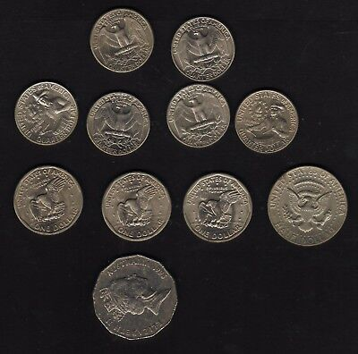 USA smail dollars varieties + Half Dollar + Quarters