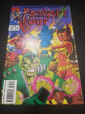 Fantastic Four #378 (Jul 1993, Marvel) White Pages!! Free Shipping in US