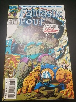 Fantastic Four #379 (Aug 1993, Marvel)   White Pages!! Never Read Free Shipping