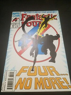 Fantastic Four #381 (Oct 1993, Marvel)  White Pages!! Free Shipping in US