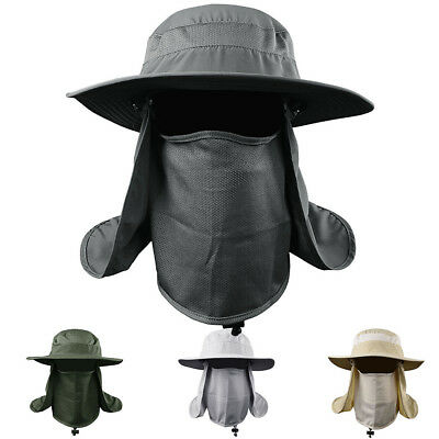 Hiking Fishing Hat Outdoor Sports Sun Protection Neck Mouth Face Cover Flap Cap
