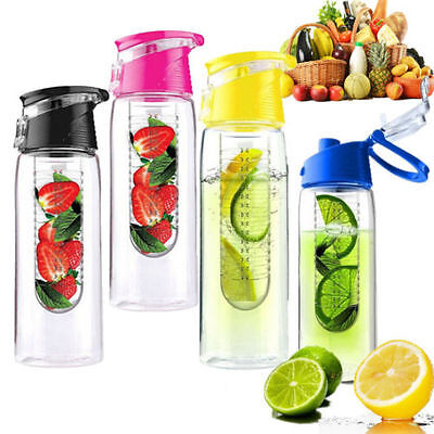 700ML Sport Infusing Infuser Water Fruit Juice Bottle Lemon Health BPA Flip ZW