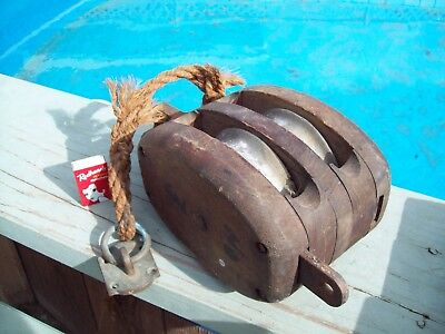 Marine- Army Double Rope Pulley Department Of Defence Broad Arrow  * WILL POST *