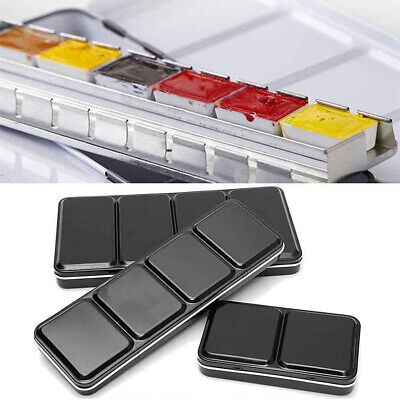 12/48 Colors Solid Watercolor Tins Palette Paint Case Arts Drawing Painting Box