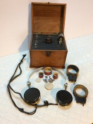 VINTAGE c1920/30s CRYSTAL RADIO SET . NOT WORKING/TESTED