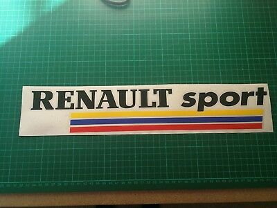 Renault Clio Sport French Sticker Megane 225 172 Turbo F1 182  Cup Decal 300mm