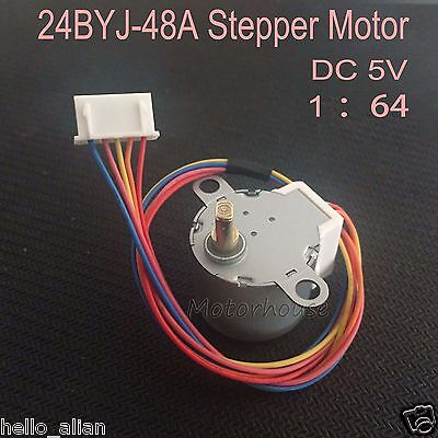 Micro DC 5 V 24BYJ48A Reduction Stepper Stepping Gear Motor 4-Phase 5-Wire 1:64