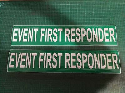 Event First Responder Reflective Magnet Paramedic Medic Sign 620x130mm x 2