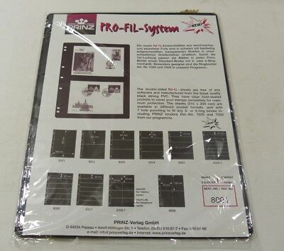 Prinz Profil PVC stock pages black backed pack of 5 - choice of strips - NEW
