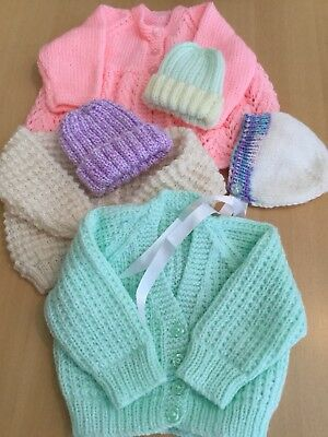 job lot hand knitted baby Items various sizes - ideal for table sale BARGAIN