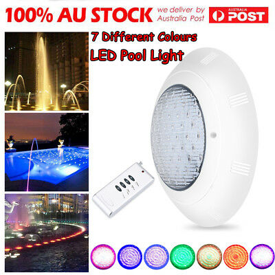 AU 7 Colors 12V LED RGB Underwater Swimming Pool Bright Light w/ Remote Control
