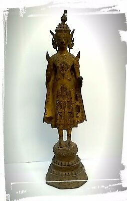 Antique Thai Buddha Statue 12""