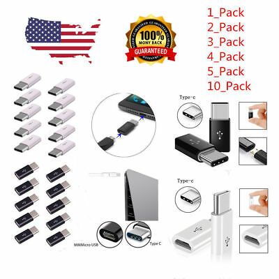 20 Pack USB 3.1 Type C Male to Micro USB Female Adapter Converter Connector Lot