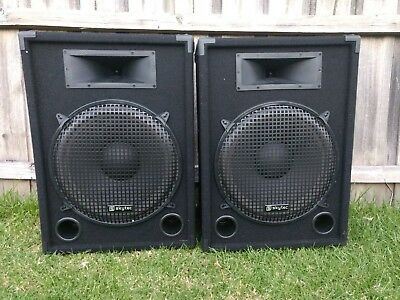 "Skytec Active 15"" Professional DJ PA Powered Speaker PAIR"