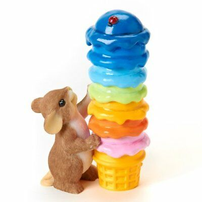 Enesco Charming Tails Youre So Colorfully Cool Figurine, 4-1/2-Inch