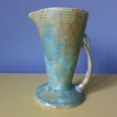 Small ART DECO WADEHEATH Mottled Green Jug/Vase