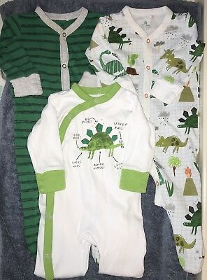 Next Set Of 3 Boys Babygrows/sleepsuits 3-6 Months