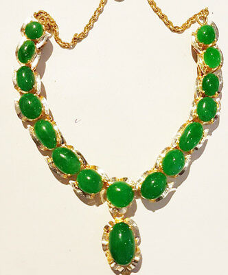 Untreated High Quality Natural Jade Jadeite Necklace Type A Green Loose Gemstone