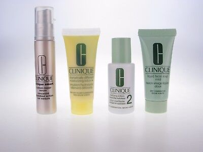 CLINIQUE Travel Set~Serum, Facial Soap,Clarifying Lotion, Dramatically Different