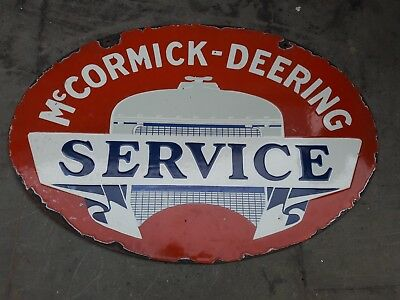 """Porcelain Mc_CORMICK SERVICE Sign SIZE 24"""" X 13"""" INCHES DOUBLE SIDED"""