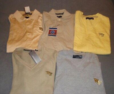 Lot of 5 Wake Forest University Golf Sweaters & Shirts sz S and M -NWT NWOT