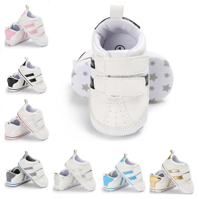 Newborn Baby Boys Girls Pram Shoes Infant Toddler Soft Sole Sneakers 0-18 Months