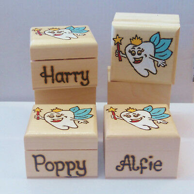 Personalised With Any Name Wooden Tooth Fairy Box Birthday Christmas Gift