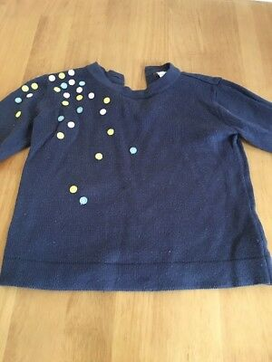 Mamas And Papas Girls Jumper. 12-18months