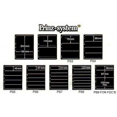Prinz System single sided standard punching stock pages per 10 choice of strips
