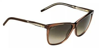 Gucci women's sunglasses authentic GG 3663/F/S 0WOHA cat eye Italy brown NEW