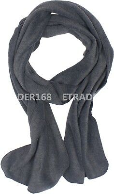 Solid Color 100% Polyester Fleece Unisex Winter Warm Scarf