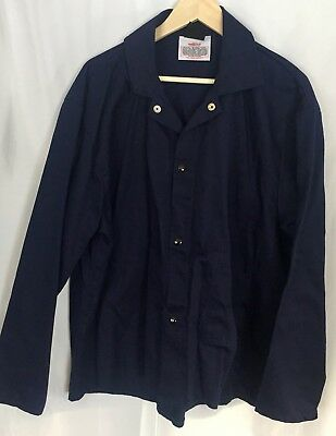 Tillman Proban FR-7A Welding Jacket Shirt Blue Size XXL 2XL Button Over Coat