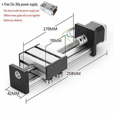 100mm Travel Length Linear Stage Actuator DIY CNC Router Parts X Y Z Linear R...