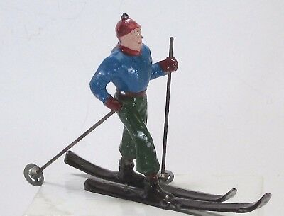 Barclay scale vintage lead toy winter figure French Crosscountry skier 3 in. BF