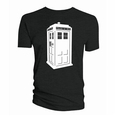 Glow In The Dark Tardis T-Shirt Mens S M L Xl Retro Tee Top Doctor Who Dr Bbc